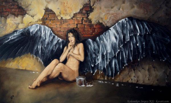 Гарпия - картина, художник Сергей Колесников (KS), холст, масло, 2016 год. Живопись в стиле - интегральный реализм.