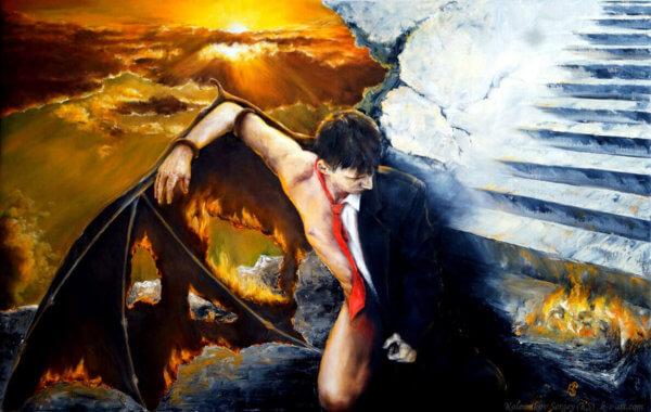 Икар - картина, автор Сергей Колесников (KS), холст, масло, 2016 год. Живопись, авторский стиль - интегральный реализм.