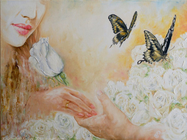Из серии (Откуда берутся дети) - картина, художник Сергей Колесников (KS), холст, масло, 2015 год. Живопись в стиле - интегральный реализм.
