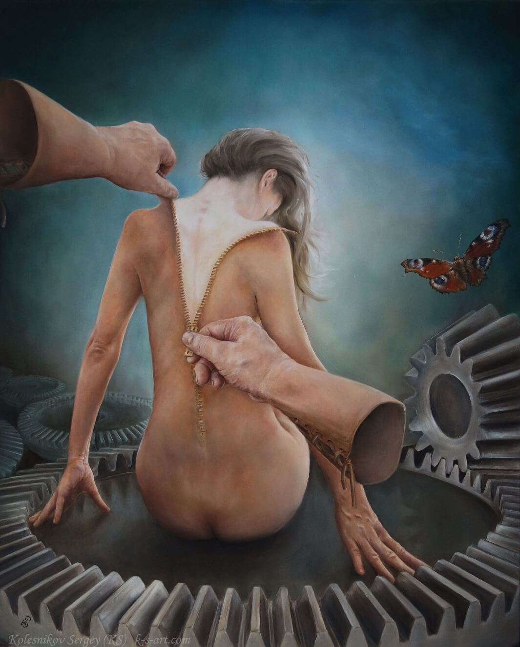 КАТАРСИС - картина, художник Сергей Колесников (KS), холст, масло, 2017 год. Живопись в стиле - интегральный реализм.