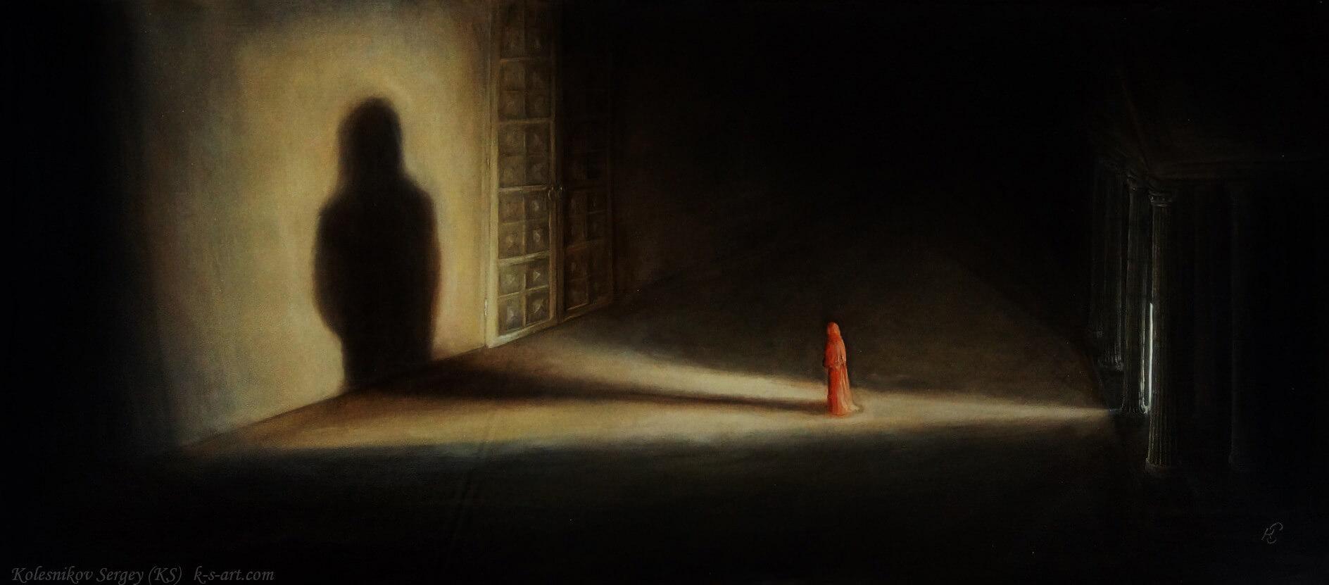 Из серии - На пороге (Барзах) - картина, автор Сергей Колесников (KS), холст (лён, мелкое зерно), масло, 50x120 см, 2017 год. Живопись, авторский стиль - интегральный реализм.