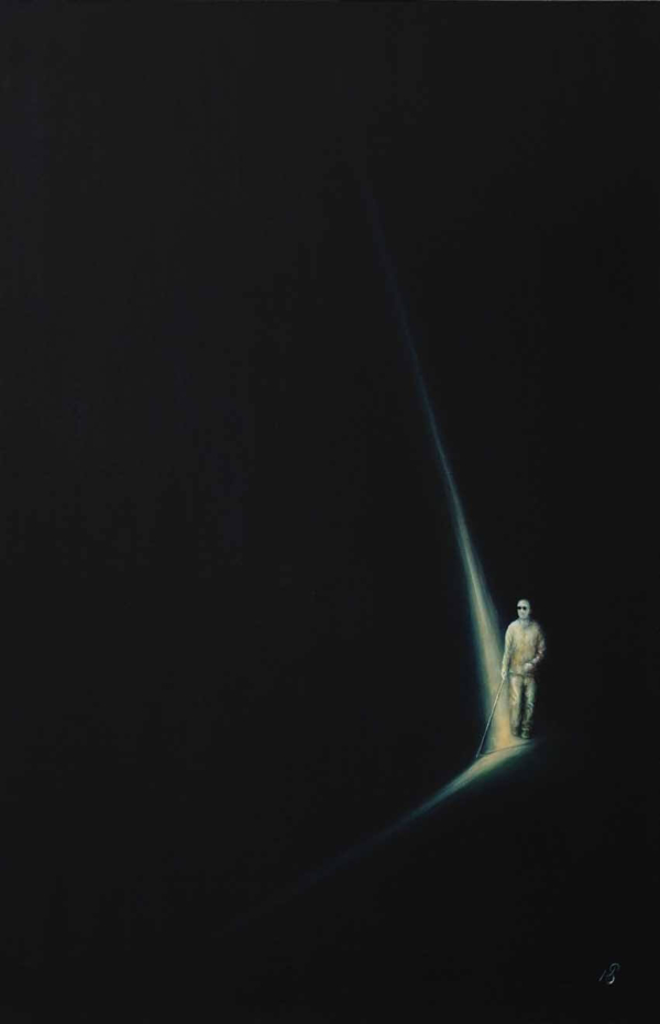 Свет - картина, автор Сергей Колесников (KS), холст (лён, мелкое зерно), масло, 85x55 см, 2018 год. Живопись, авторский стиль - интегральный реализм.