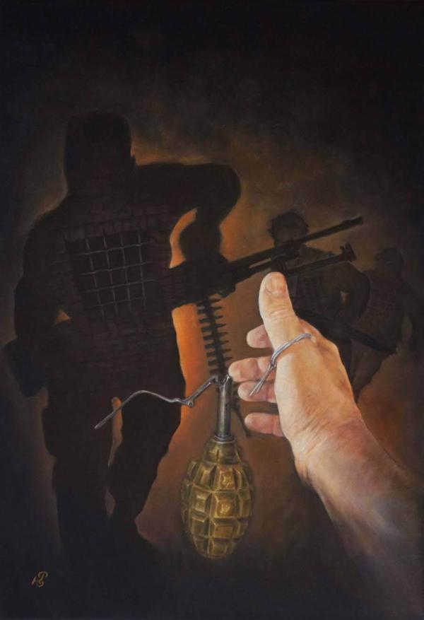Выбор - картина, автор Сергей Колесников (KS), холст (лён, мелкое зерно), масло, 80x55 см, 2018 год. Живопись, авторский стиль - интегральный реализм.