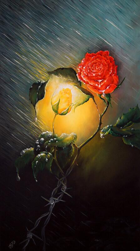 Любовь - картина, художник Сергей Колесников (KS), холст, масло, 2015 год. Живопись в стиле - интегральный реализм.