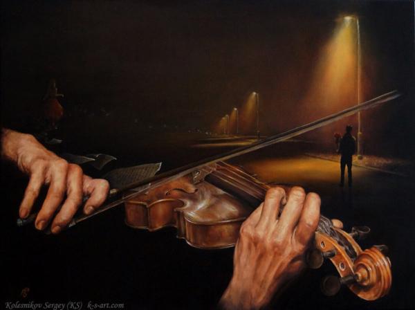Прелюдия - картина, автор Сергей Колесников (KS), холст (лён, мелкое зерно), масло, 60x80 см, 2016 год. Живопись, авторский стиль - интегральный реализм.