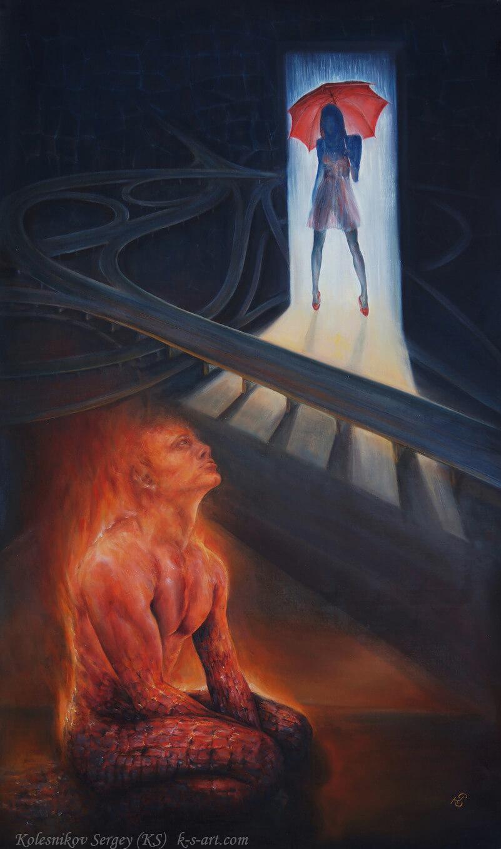 Развязка - картина, художник Сергей Колесников (KS), холст, масло, 2017 год. Живопись в стиле - интегральный реализм.