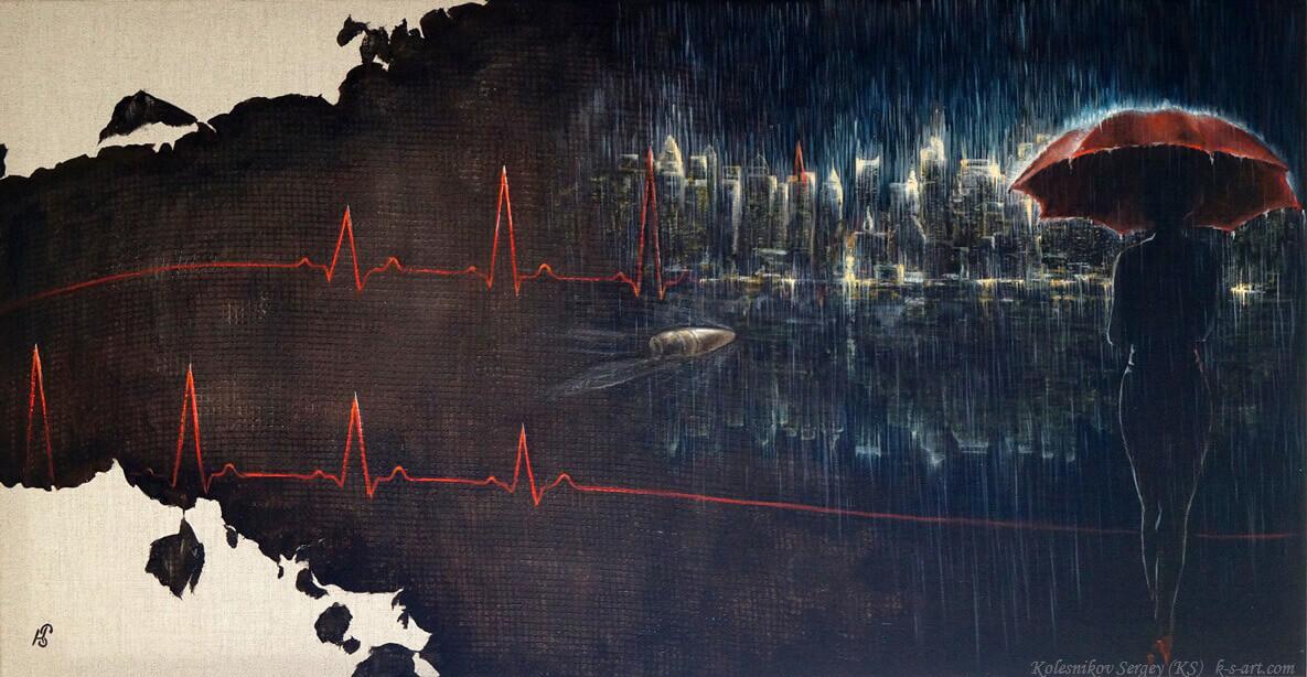 """Картина - """"Ритм"""" художник Сергей Колесников (KS), холст, масло, 2016 год. Живопись в стиле - интегральный реализм."""