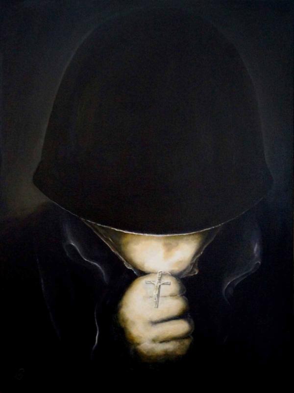 С Богом - картина, автор Сергей Колесников (KS), холст (лён, мелкое зерно), масло, 80x60 см, 2014 год. Живопись, авторский стиль - интегральный реализм.