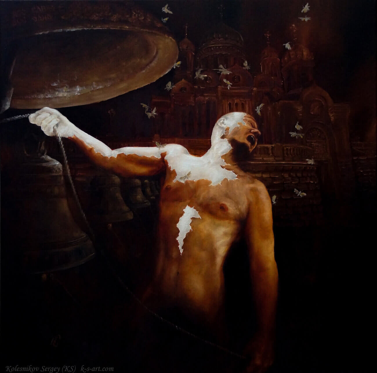 Из серии – ОЧИЩЕНИЕ (Православие) - картина, художник Сергей Колесников (KS), холст, масло, 2015 год. Живопись в стиле - интегральный реализм.