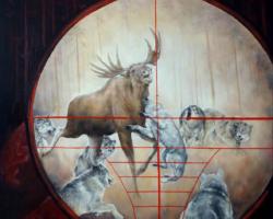 "Картина ""Из серии — Охота (волки)"""