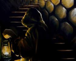 """Картина """"Вниз по лестнице ведущей вверх"""""""