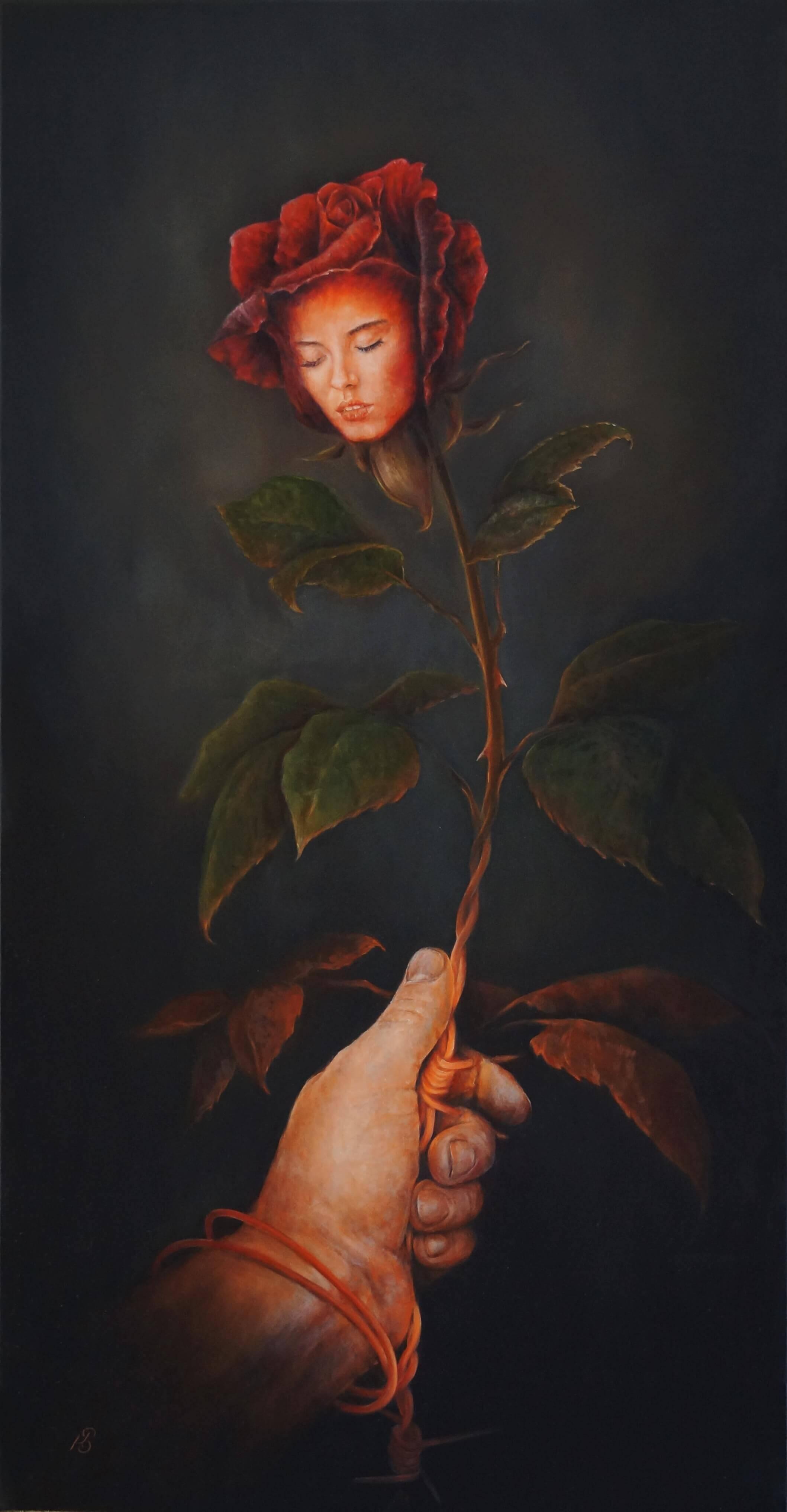 Зависимость - картина, автор Сергей Колесников (KS), холст (лён, мелкое зерно), масло, 2017 год. Живопись, авторский стиль - интегральный реализм.