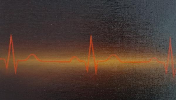 """Картина """"Алгоритм"""", автор Сергей Колесников (KS), холст (лён, мелкое зерно), масло, 55x95 см, 2019 год. Живопись, фрагмент 3"""