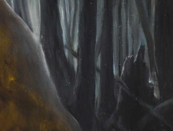 Фрагмент к картине 2 Lost (дрова горят) 65х95. холст, масло. Художник Сергей Колесников (KS)
