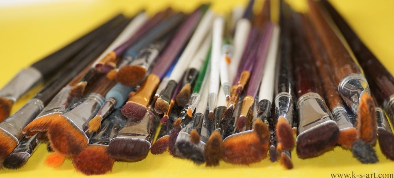 Как и чем очистить художественные кисти от масляной краски