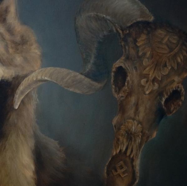 Картина - Вожак интегральный реализм, холст (лен мелкое зерно), масло, художник Сергей Колесников (KS) фрагмент 2