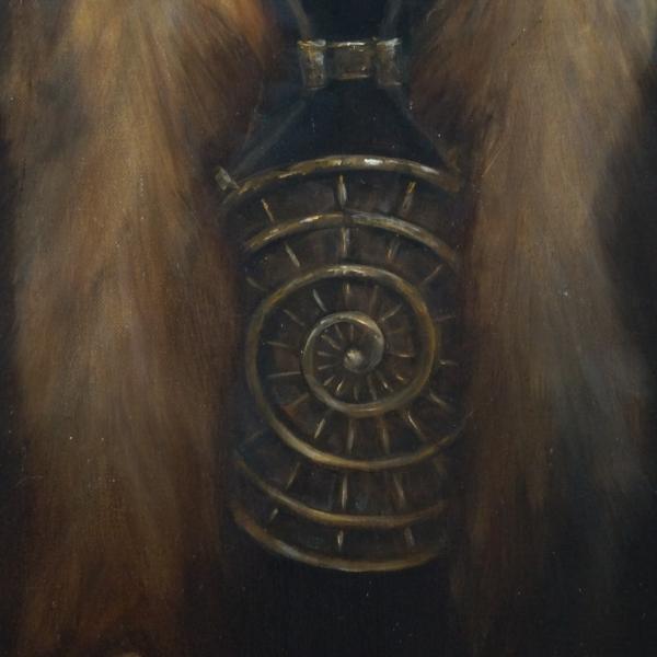 Картина - Вожак интегральный реализм, холст (лен мелкое зерно), масло, художник Сергей Колесников (KS) фрагмент 5