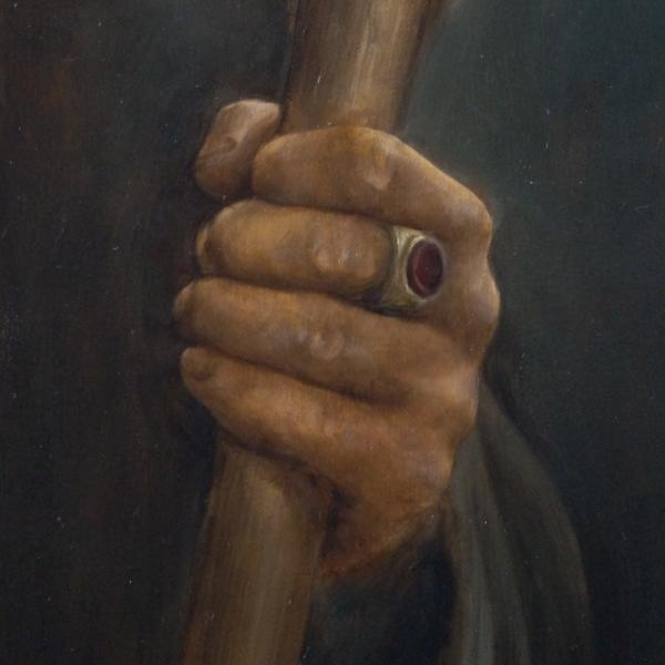 Картина - Вожак интегральный реализм, холст (лен мелкое зерно), масло, художник Сергей Колесников (KS) фрагмент 4