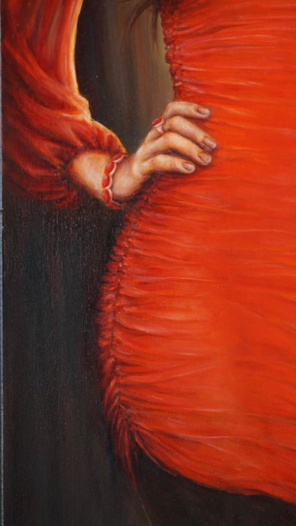 Картина «Красное» фрагмент 2
