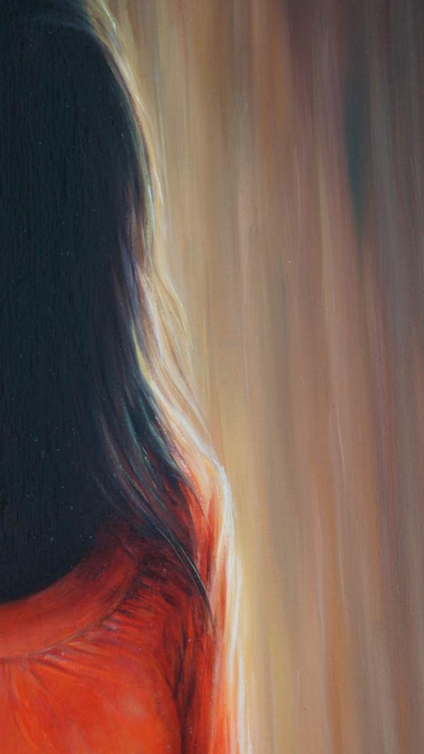 Картина «Красное» фрагмент 4