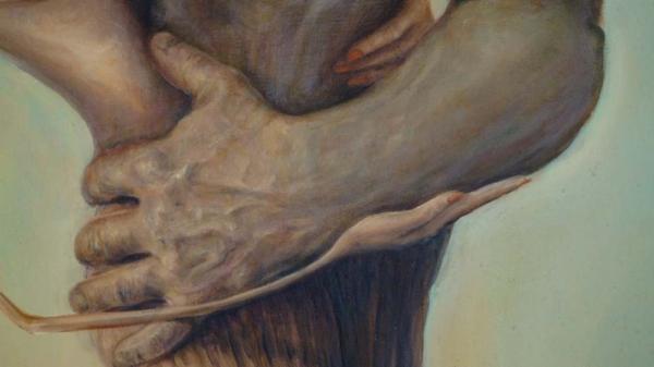 Картина «Счастье любит тишину» фрагмент 1