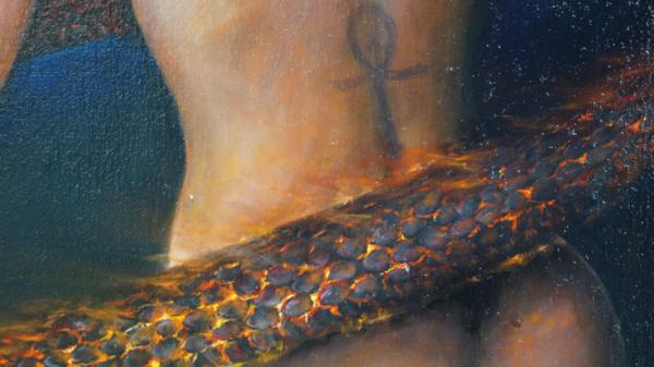 Картина «Самость» - интегральный реализм, холст (лен мелкое зерно), масло, художник Сергей Колесников (KS) Фрагмент 4