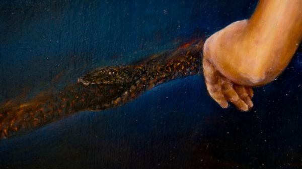 Картина «Самость» - интегральный реализм, холст (лен мелкое зерно), масло, художник Сергей Колесников (KS) Фрагмент 2