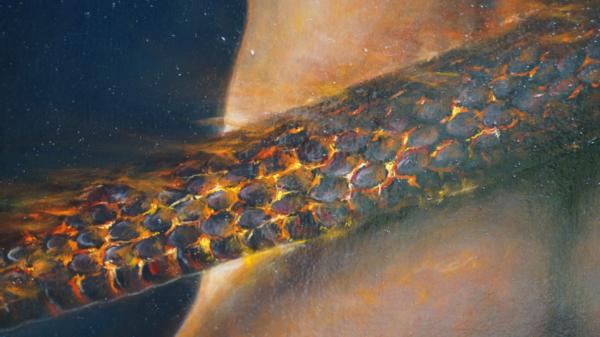 Картина «Самость» - интегральный реализм, холст (лен мелкое зерно), масло, художник Сергей Колесников (KS) Фрагмент 1
