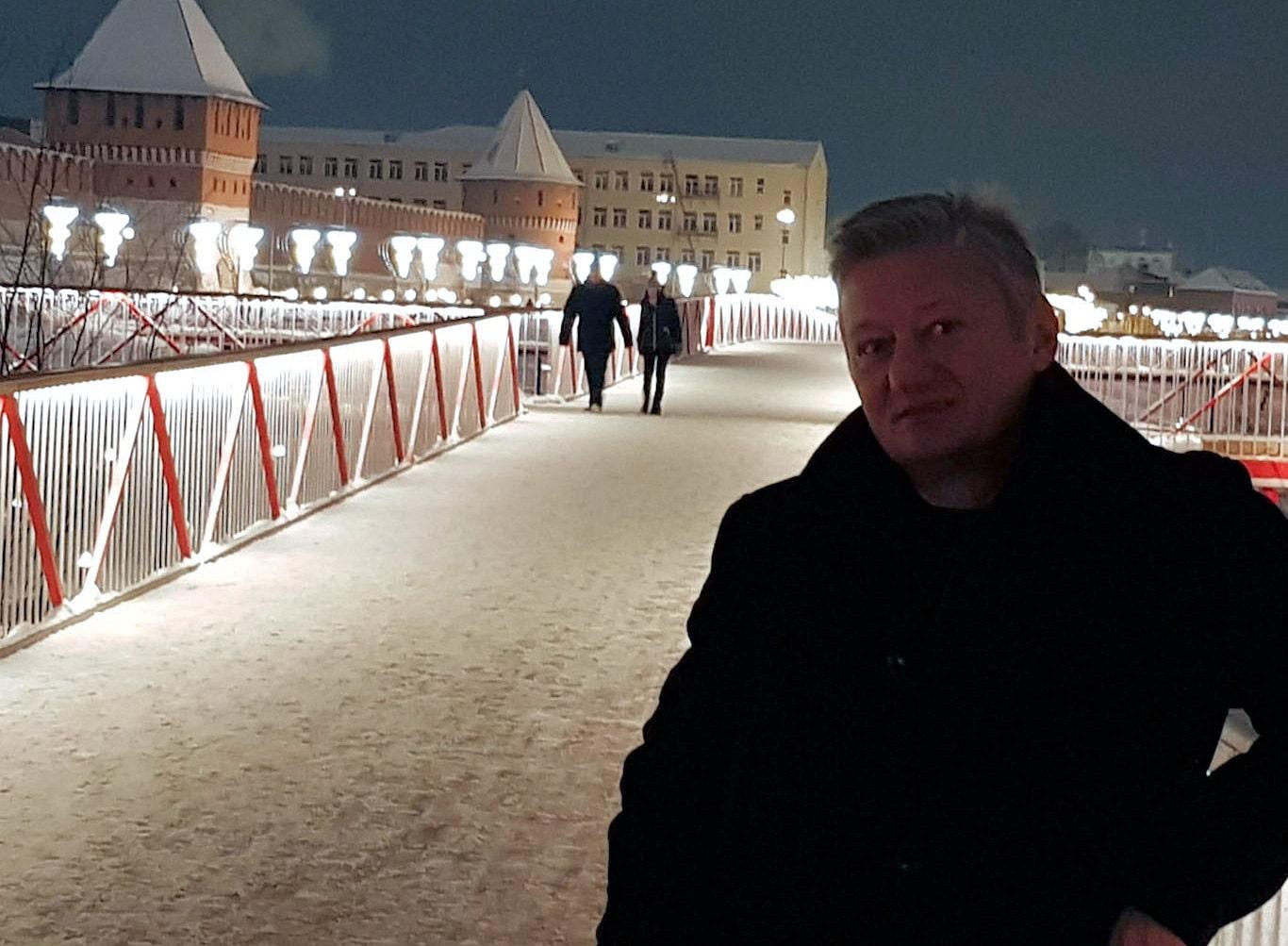 Сергей Колесников в Туле зимой