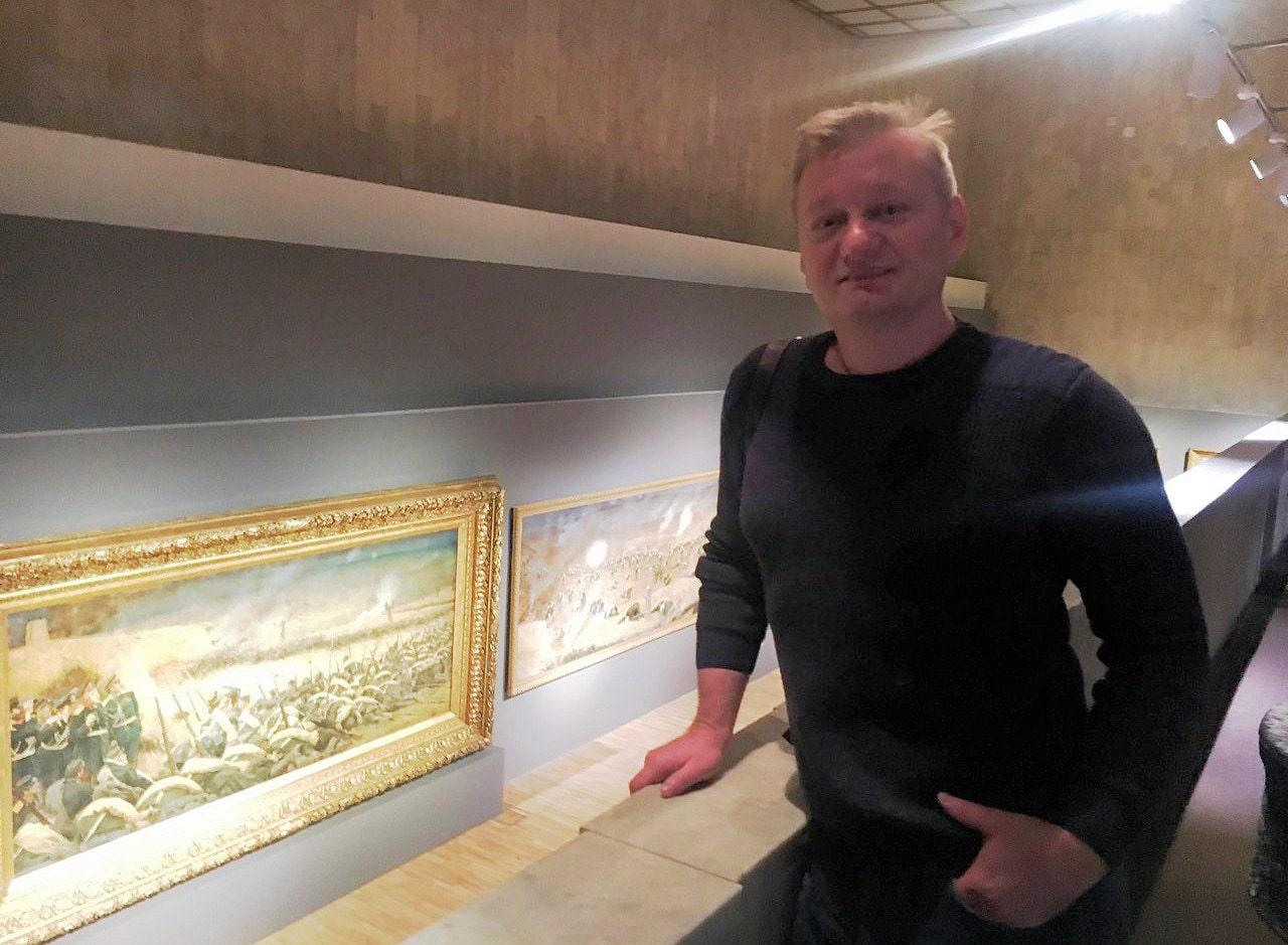Сергей Колесников в Третьяковской галерее