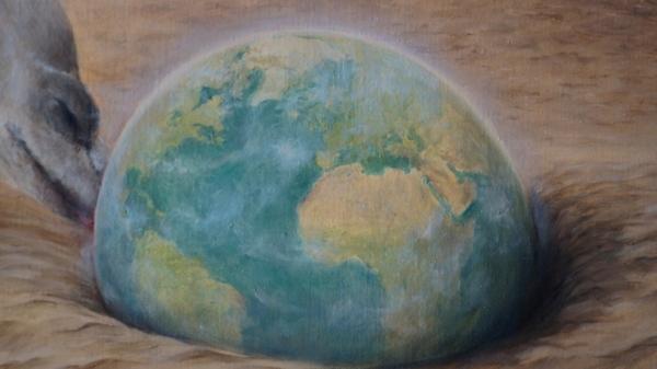 Картина «Оазис» фрагмент 2
