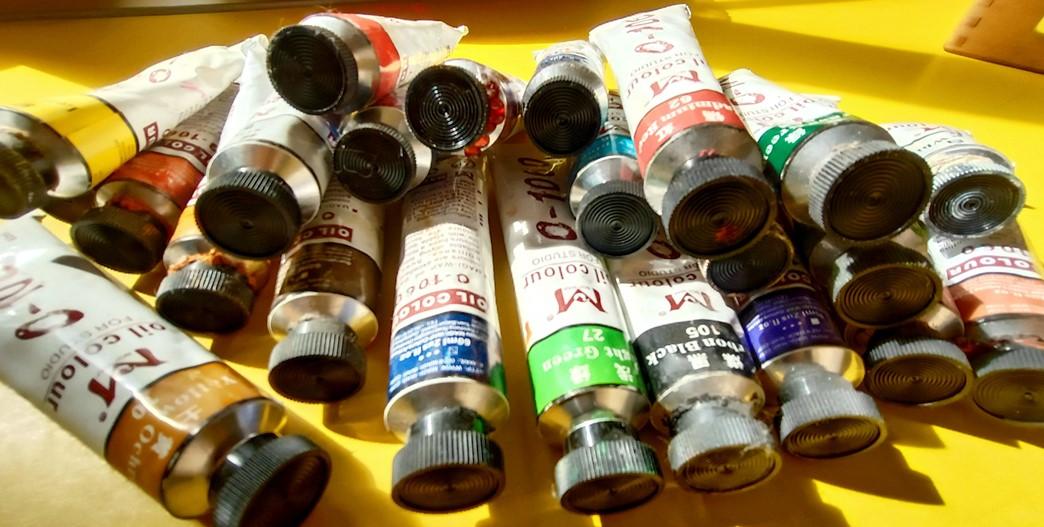 Китайские художественные масляные краски