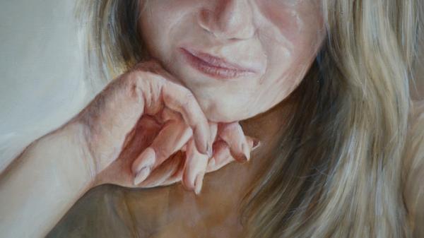 Портрет девушки - фрагмент 4