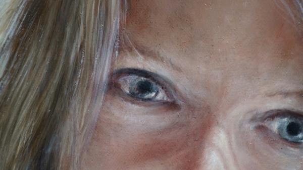 Портрет девушки - фрагмент 2