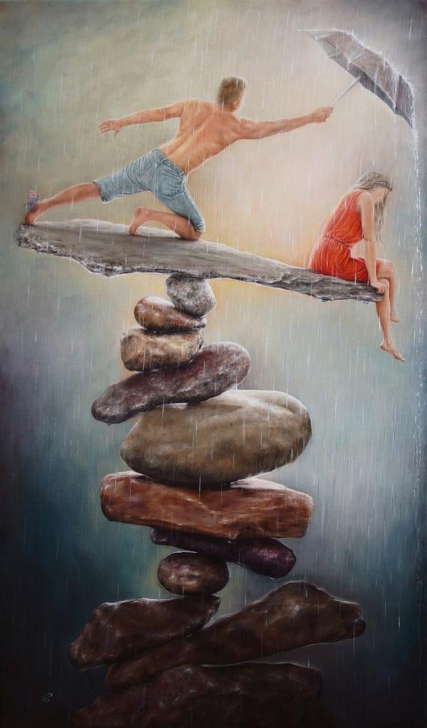 Равновесие - картина, автор Сергей Колесников (KS), холст, масло, 2017 год. Живопись, авторский стиль - интегральный реализм.
