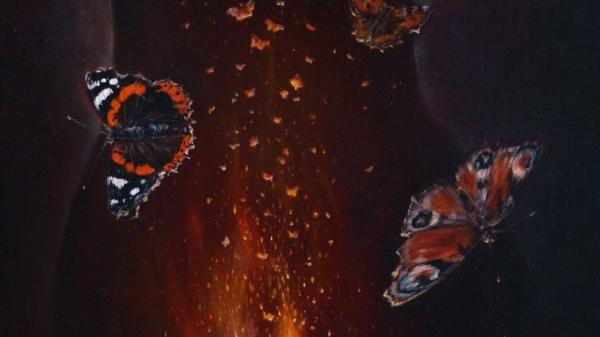 """Картина """"Бабочки"""", фрагмент 2"""